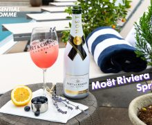 Moët Riviera Spritz cocktail with Adam Rippon
