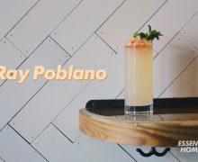 Upright cocktail Ray Poblano