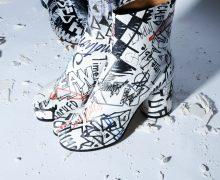 margiela SS90 graffiti Tabi Boots